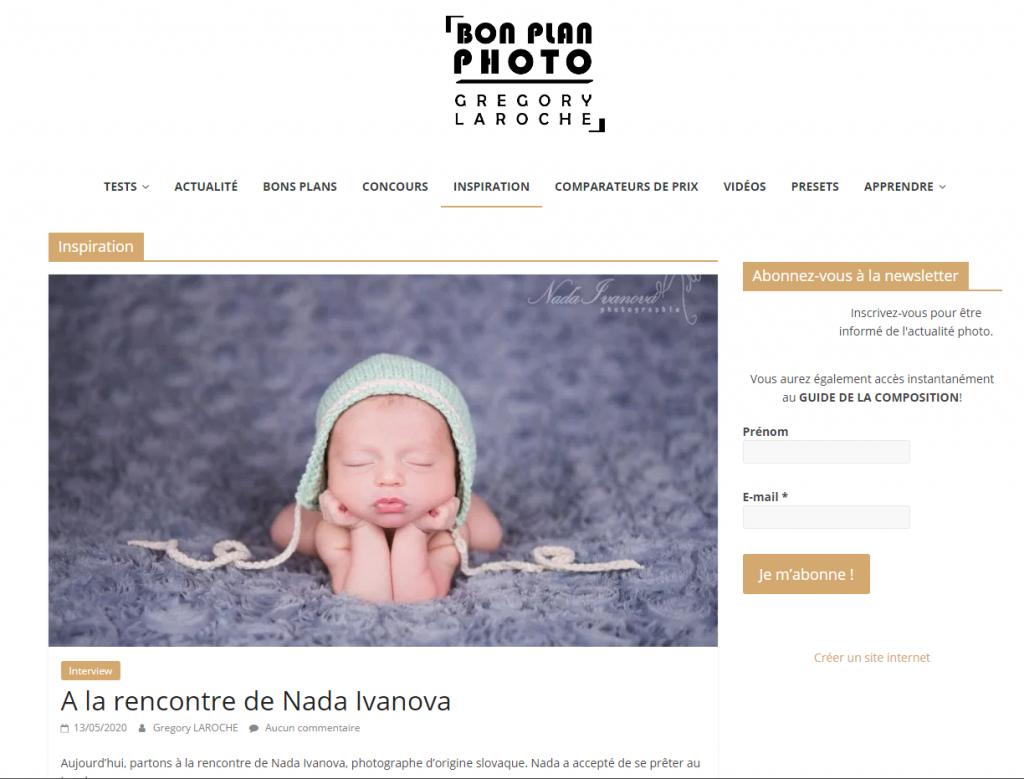 article a propos de nada ivanova sur le blog bon plan photo